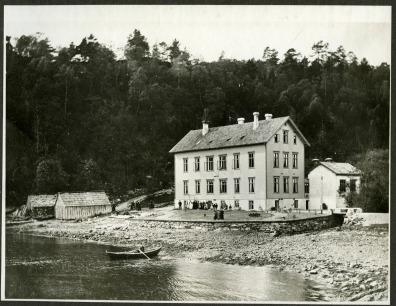 Kysthospitalet i Hagevik 1893. Ukjent fotograf